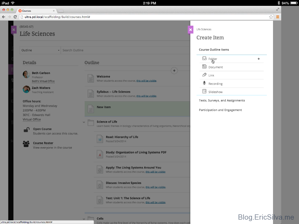 SCREENSHOTS: The NEW Blackboard Learn Ultra & Collaborate User ...