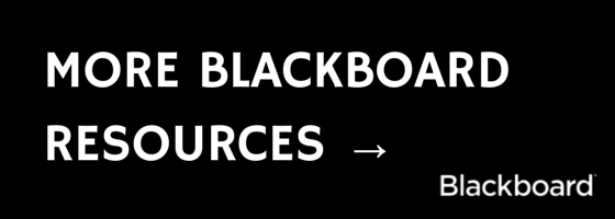 More Blackboard Resources